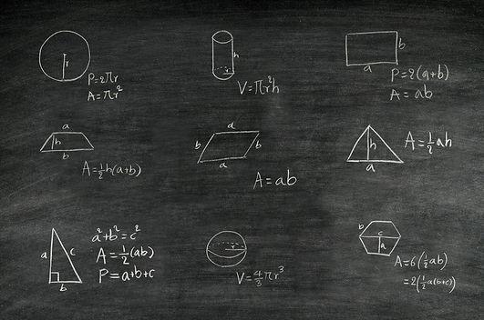 mathematics formula of geometric shape w