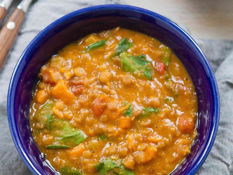 Sweet Potatoes and Lentil Soup