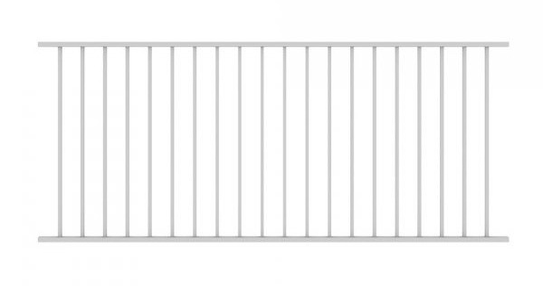 Fixed Railing Panel White
