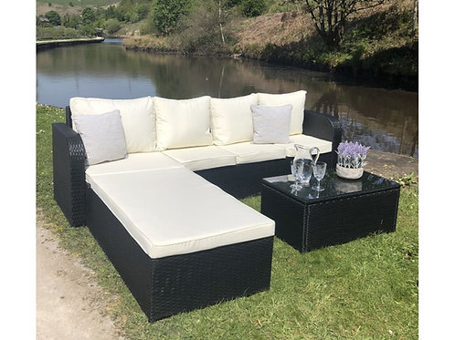 Weatherproof Rattan Sofa Lounger Set (2 Colours)