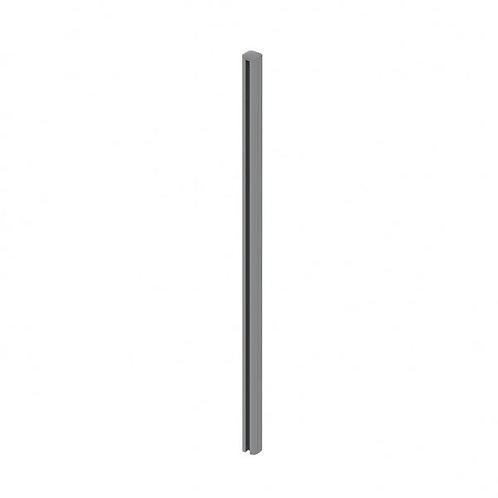 548 BHF Fence Corner Post Grey inc Post Cap and Cover Strips 70x70mm 2.4m