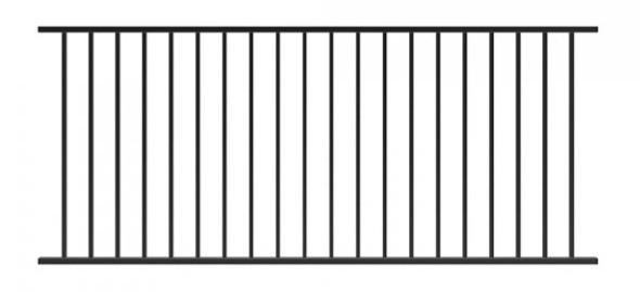 Fixed Railing Panel Black