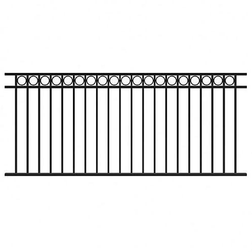 Fortitude Fixed Railing Panel H 1016 x W 2370mm Circles