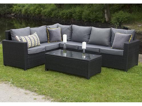 Porto Outdoor Rattan Corner Sofa Set (2 Colours)
