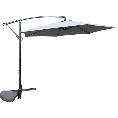 Cantilever 3M Gqarden Parasol Light Grey Fabric with Steel Frame