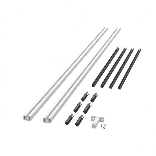 548 Nouvelle Aluminium Channel Kit - 38x25mm - 1.8m (White RAL 9016)