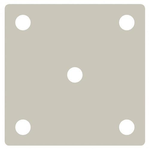 Aluminium Post 50mm sq x 1050mm O/A Lgth Bolt-Down Flange - Powder Coated White