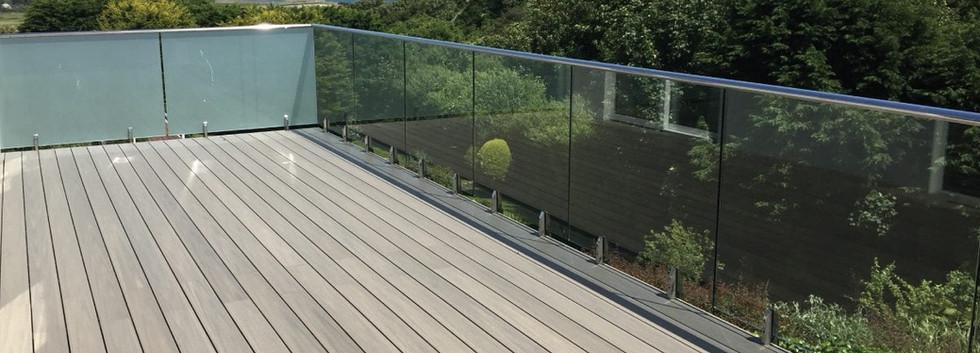 Aluminium Spigot Glass Balsutrade