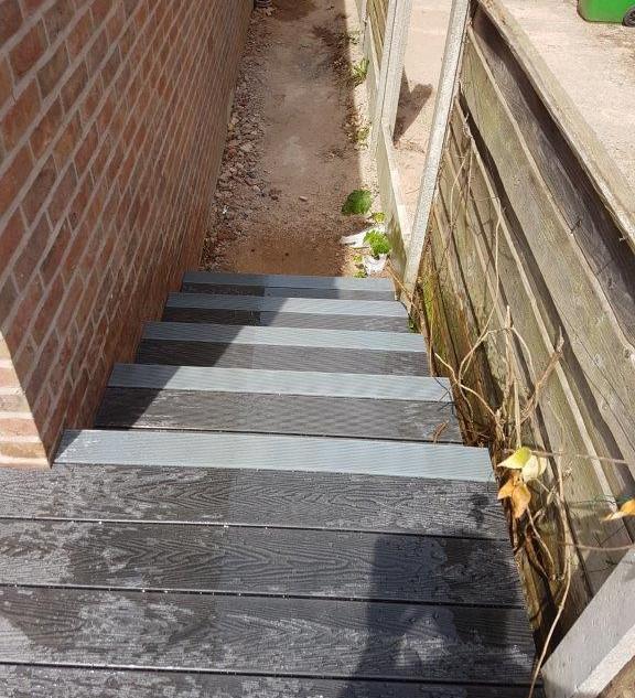 Grey Decking Steps