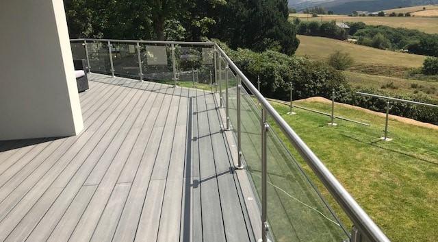 Aluminium Clamped Glass Balustrade