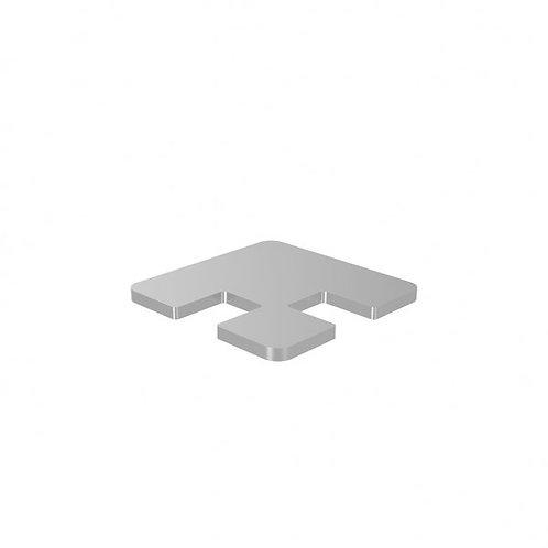 548 Magia Blanking Cap For 50mm Corner Post Aluminium Satin Anodised Finish
