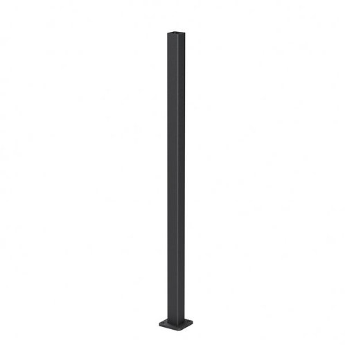 Magia 75mm fluted bolt-down post in aluminium with base cover