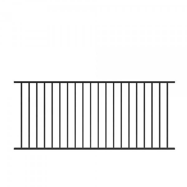 Fortitude Fixed Railing Black