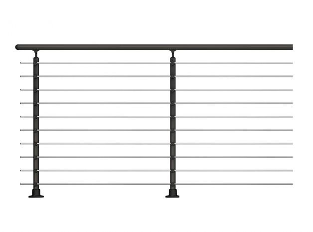2 Post Anthracite balustrade