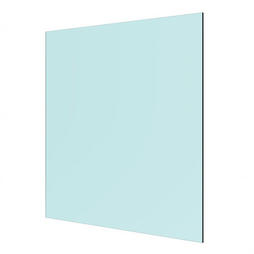 8mm Clear Float Toughened Glass Panel 760 x 1000mm with dubbed corners