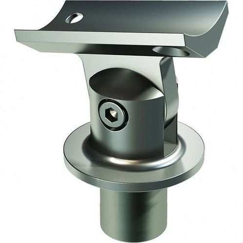 Adj. Saddle 42.4mm post/50mm handrail Anodised Aluminium