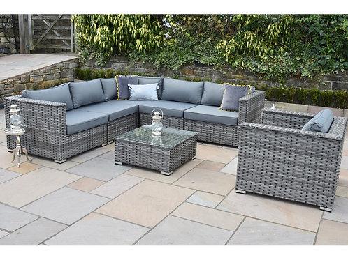 Hamilton Luxury Grey Rattan Corner Sofa Set