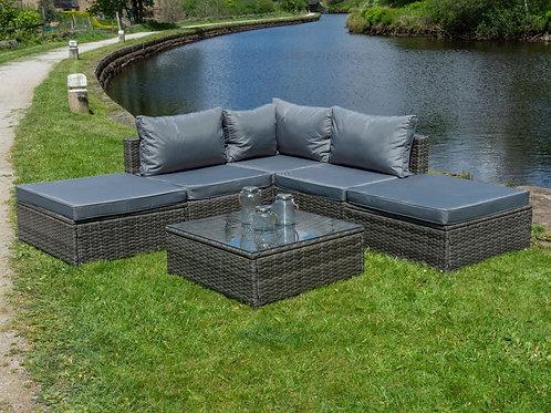 Verona Outdoor Rattan 5 Seat Corner Sofa Set (2 Colours)