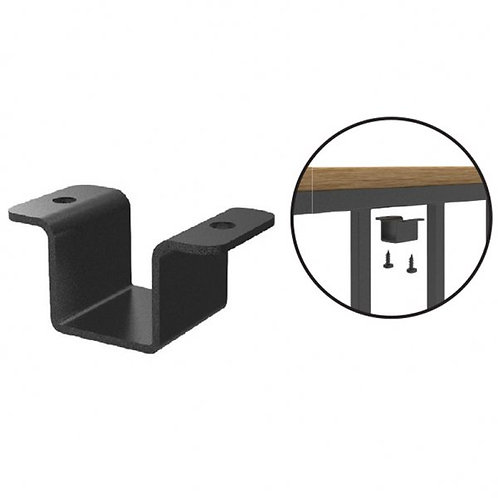 548 Abode Forte 25mm Cap Rail Clip for Wooden Handrail x 4 with fixings