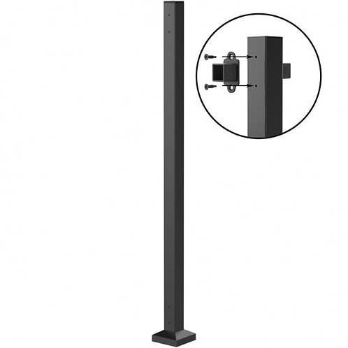 548 Abode 50mm Bolt-Down Mid Post 1155mm Black Sand With Base Cover Plate