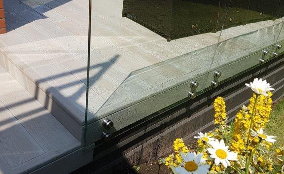 Stand Off Glass Balustrade