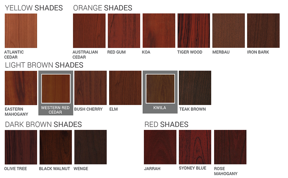 Endurawood alumium fence colours