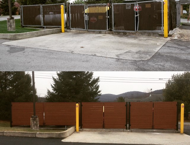 Trash Enclosure Before and After