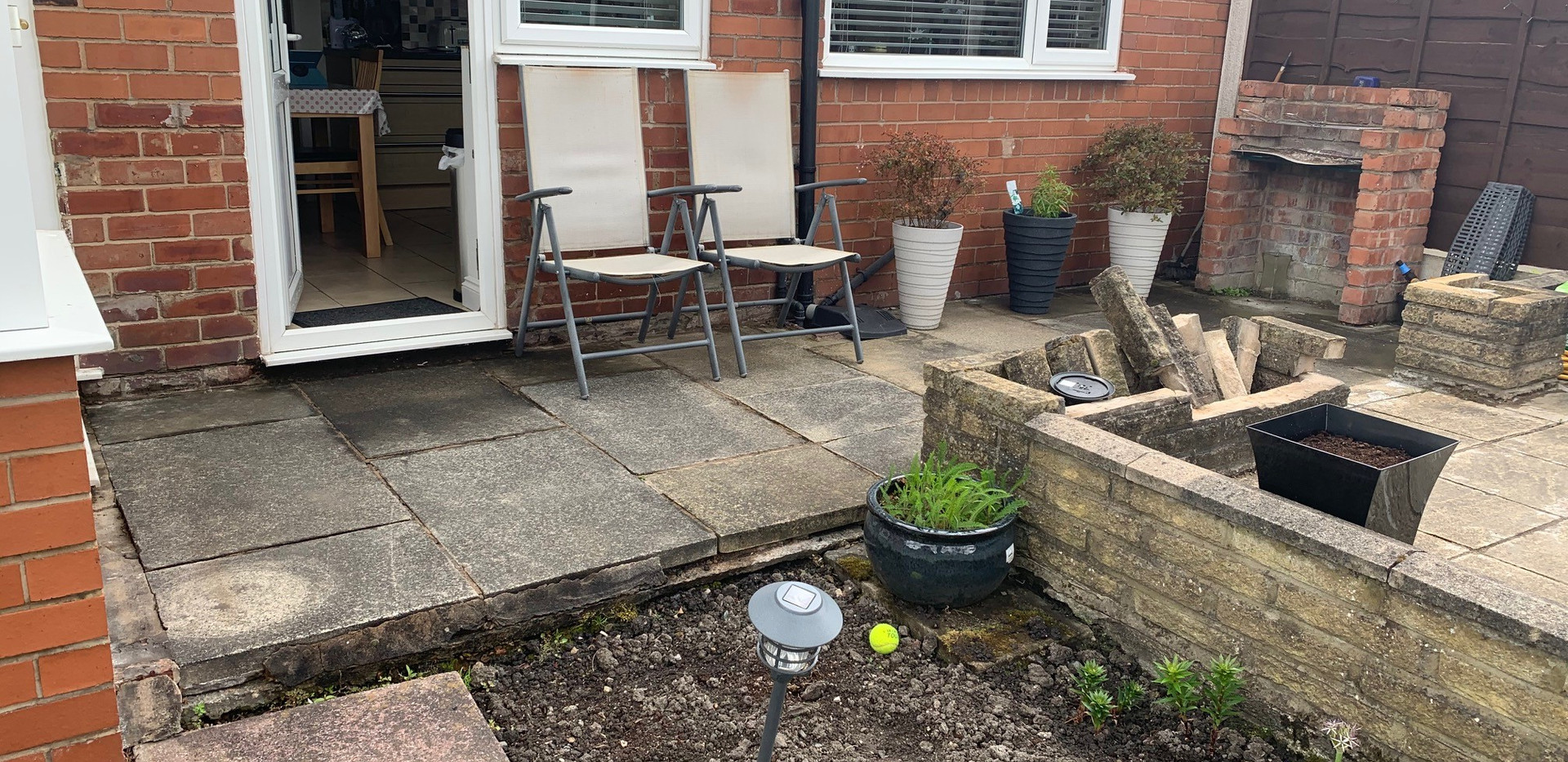Before Decking & Planters