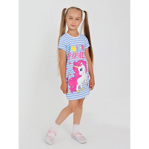 Платье ИПЛ-524/1 Клавдия-1 ,Голубой