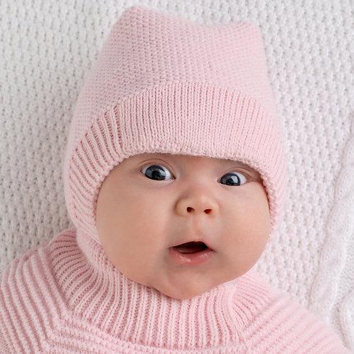 """Шапка дет. """"Капор Непоседа-Д"""" хб подкл, утеплитель,розовый"""