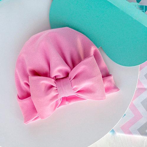 ШВ20-92310490 Чалма  с бантом рибана, розовый