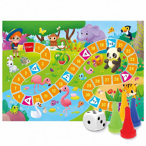 Игра-ходилка с фишками для малышей. В зоопарке 5952