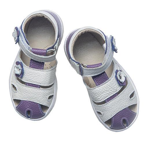 Туфли м/дет кожа Фома, белый фиолетовый 22497