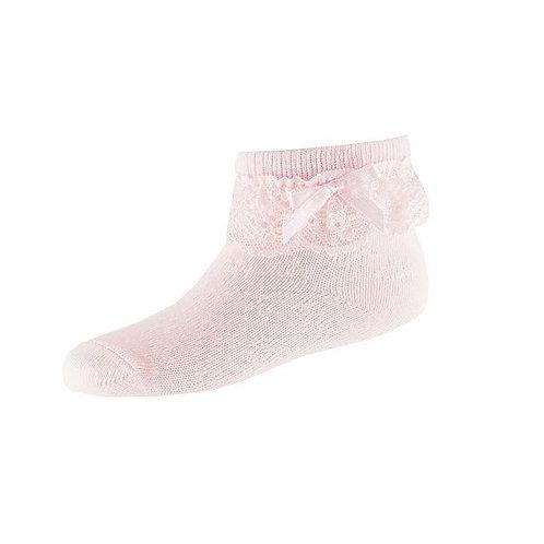 Носочки с рюшами, розовый