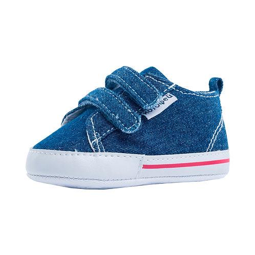 001086-11 Пинетки текстиль синий