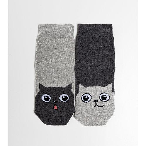 Носки детские 400K-655 , Серый меланж