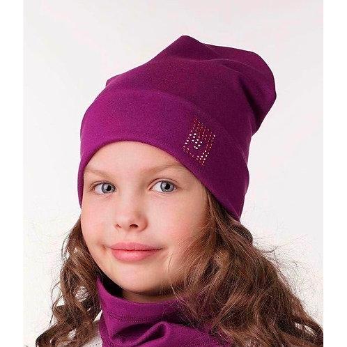 Двухслойная  шапка Джей-д ягодный 50-54