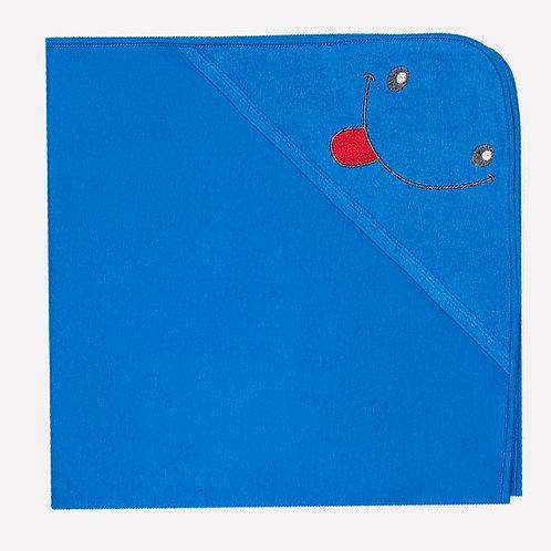 Полотенце для купания 8500/ярко-голубой(улыбка)