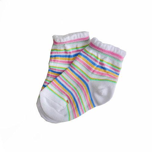 Носочки белые с полосочками