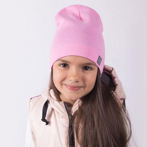 """ШЛ20-08310456 Однослойная шапка с нашивкой """"Воздушный шар"""", розовый"""