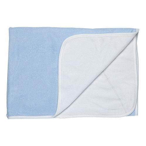 M000007V Одеяло теплое велюр 86*90 хлопок, голубой
