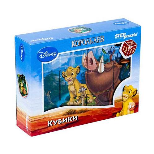 Кубики Степ Пазл Дисней. Король лев (12шт) 87156