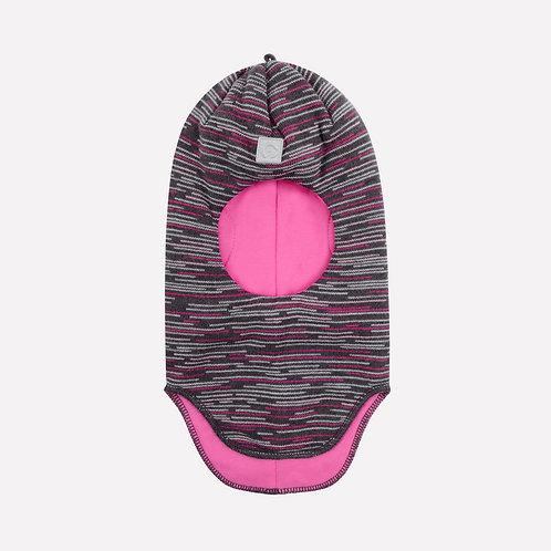 Шапка-шлем хб подкл, утеплит 20151/ш/графит,розовый