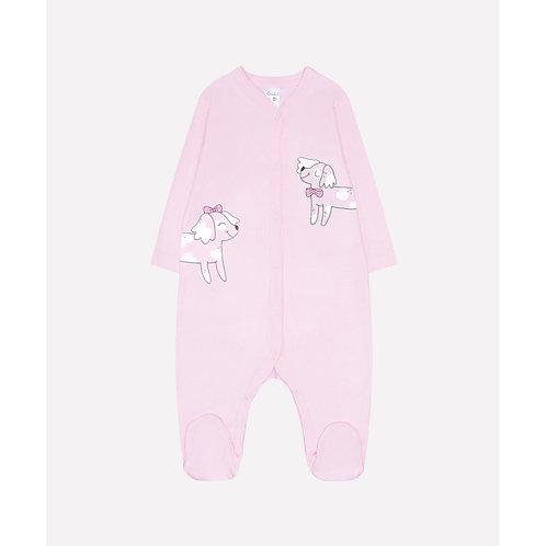 Комбинезон для девочки К 6025/розовое облако(пушистики)