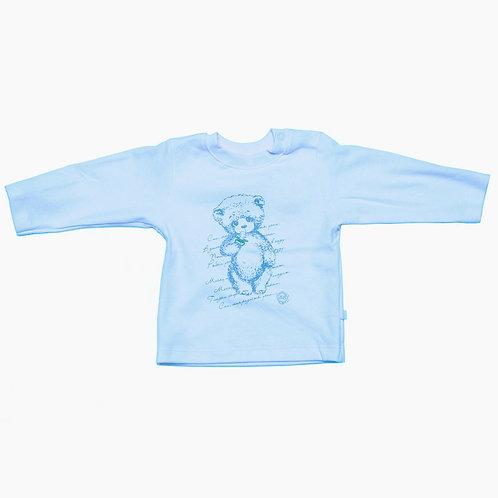MP020137Y Кофточка принт, голубой