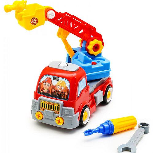 Пожарная машина с инструментами пластмассовая1410D