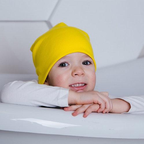 Двухслойная шапка-чулок, желтый
