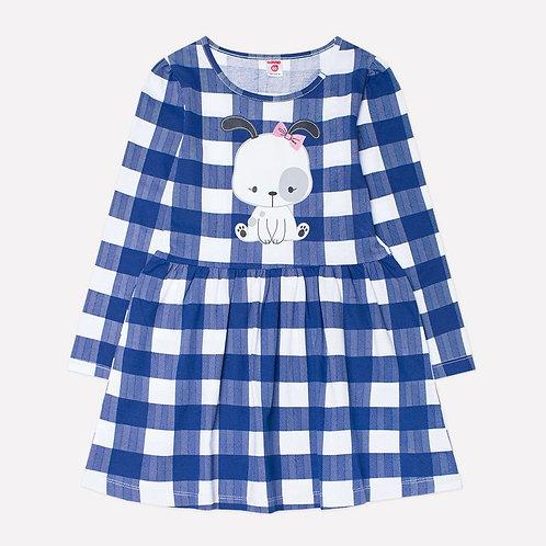 Платье К 5518/синяя клетка