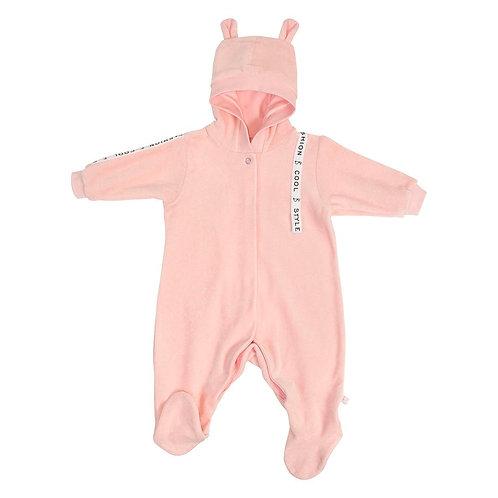 Комбинезон велюр для девочки, розовый M060104V