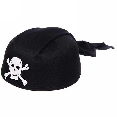"""Шляпа-бандана карнавал.  """"Пират"""" черный с белым"""